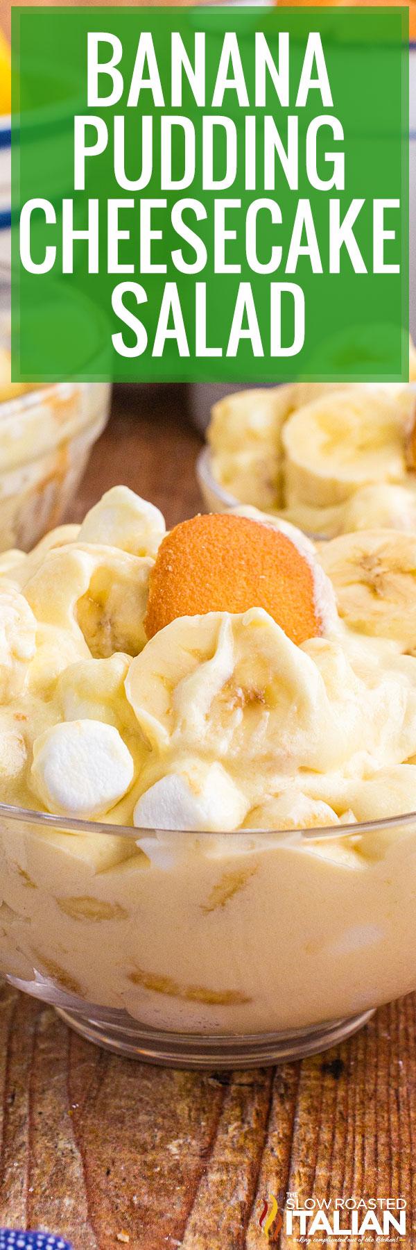 Banana Pudding Cheesecake Salad closeup