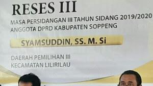 Syamsuddin, Anggota DPRD Soppeng Gelar Reses