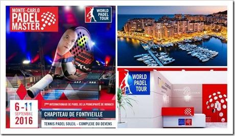 Arranca la 2ª edición del Monte Carlo Padel Master del 6 al 11 de septiembre de 2016.