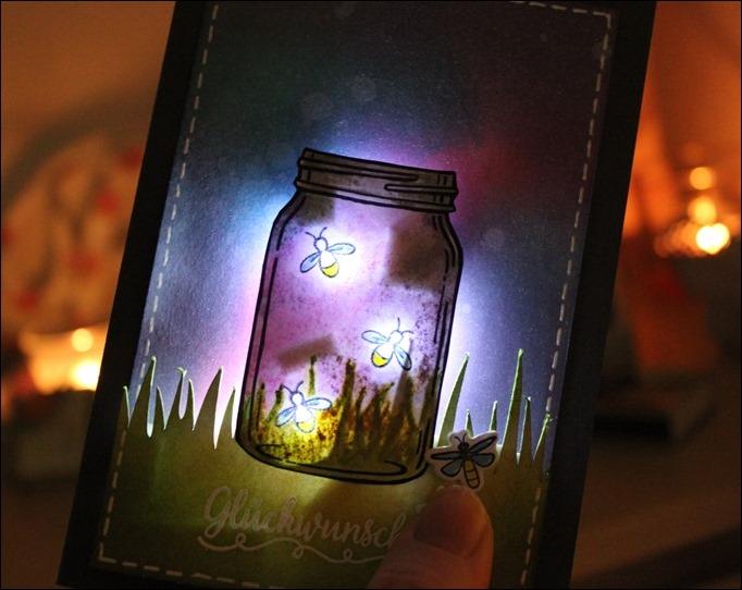 LED Karte Glühwürmchen Distress Ink Stampin Up Glasklare Grüße 03