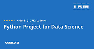 free Coursera course to learn Python Project for Data Science