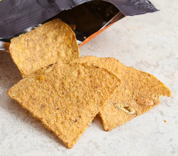 close-up photo of Pumpkin Tortilla Chips