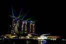 The Marina bay atmosphere in Singapore
