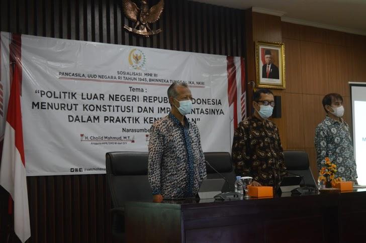 Anggota DPD RI Cholid Mahmud : Politik Luar Negri Harus Berpijak Prinsip Kemerdekaan, Perdamaian, dan Keadilan