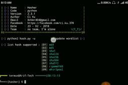 Cara Install Hasher untuk creck Password di termux