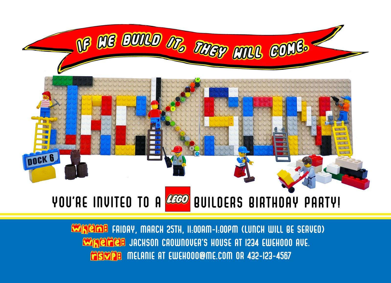 ewe hooo Lego Birthday Party Sneak Peek – Lego Birthday Party Invitations