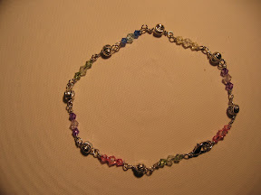 multi color Anklet $ 2.00, 10.5 inches