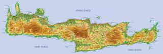 Κρήτη, γεωφυσικός χάρτης Κρήτης, Ελληνικές φυλές.