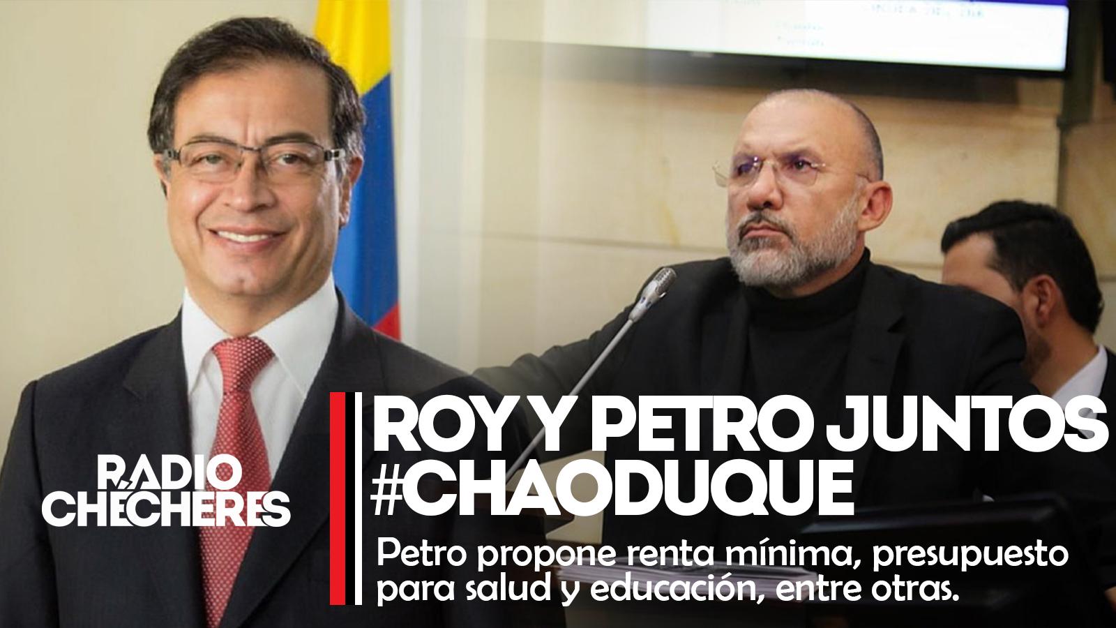 Roy Barreras aceptó propuesta de Petro para unir fuerzas,  y revocar el mandato de Duque