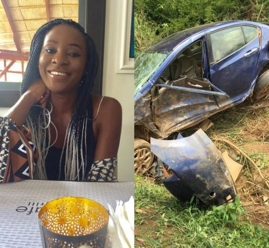 Photos Of Lady Goes Viral After Horrific Accident In Abuja