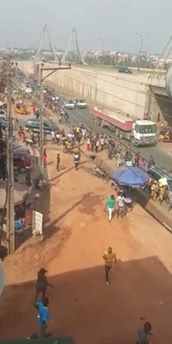 Massive Protest in Awka, the capital city of Anambra State. The reason for the protest being against the exorbitant charges and numerous taxes on shops and private business