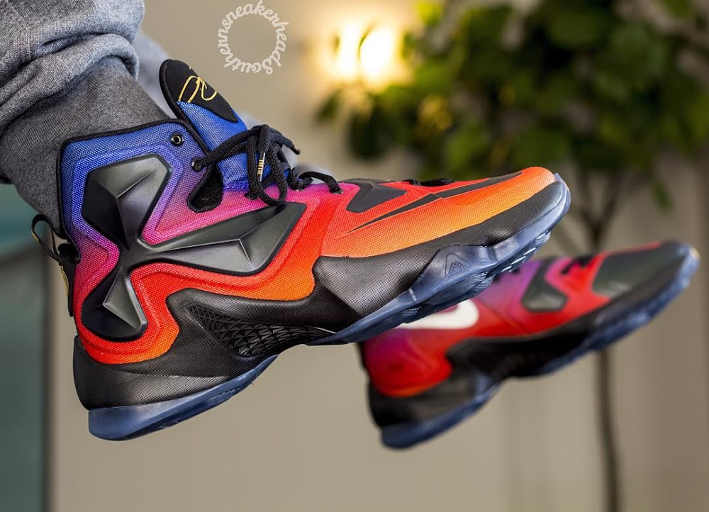 big sale 9da50 e63da A Rare Look at the Doernbecher LeBron 13 Out in the Wild ...