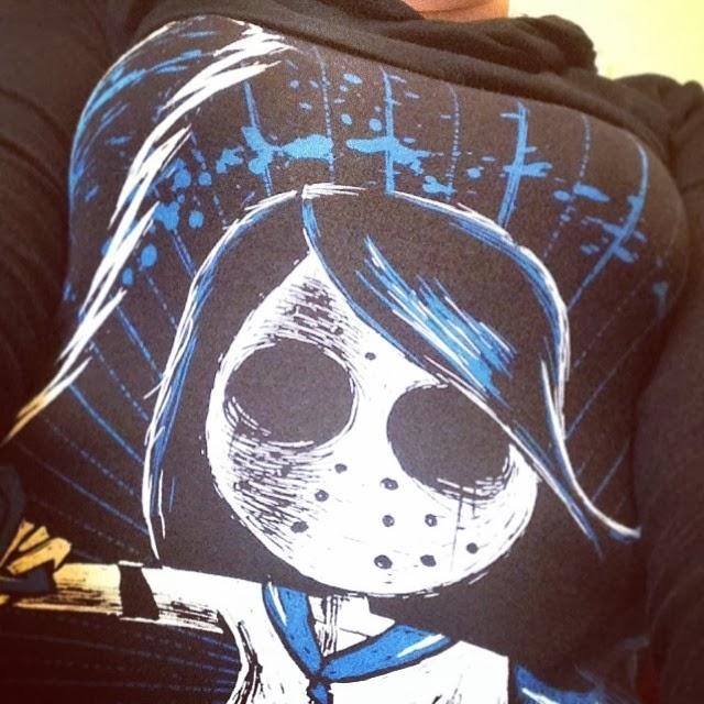 akumuink, tokyo revenge, tokyo chan, japanese goth clothing, jgoth, jhorror shirt, school girl horror, nightmare shirt