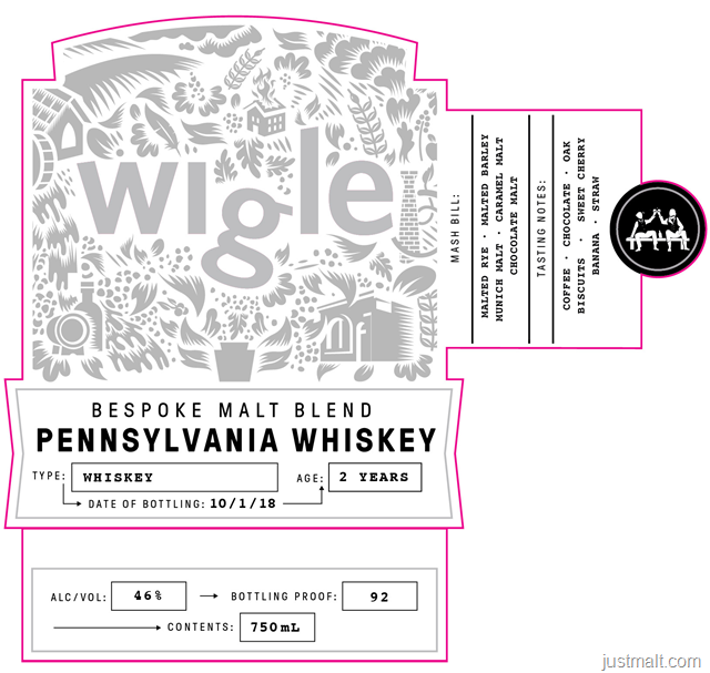 Wigle Bespoke Malt Blend Pennsylvania Whiskey