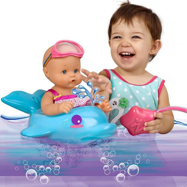 Búp bê Nenuco tắm với phao bơi cá heo vui nhộn sinh động hấp dẫn