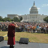 Audience gathering for A Talk For World Peace - West Lawn of US Capitol - July 9, 2011