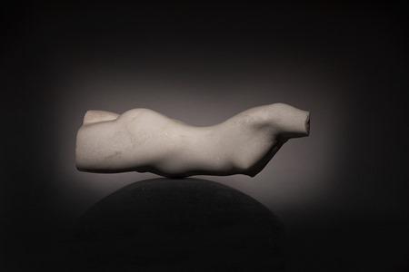 Swimmer: PORTUGUESE MARBLE, 2013; W 39cm, H 13 cm, D 12 cm; SOLD