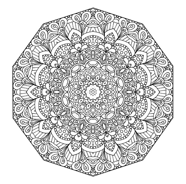 Free Printable  Floral Mandala Coloring Page  The Open Mind More