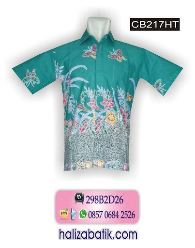 CB217HT Baju Kerja Batik, Toko Baju Batik Online, Batik Pria, CB217HT