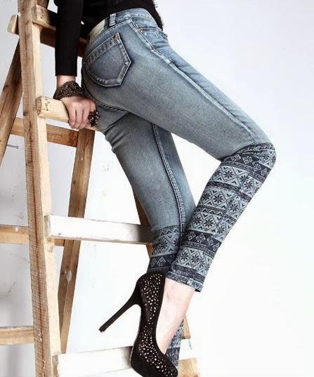 Inspiração: estampa étnica - calça jeans
