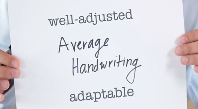 tulisan tangan sedang