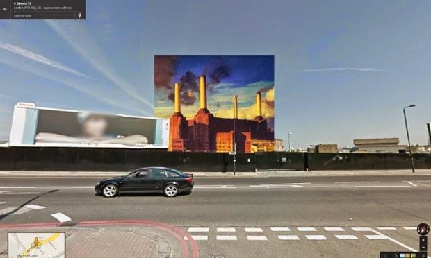 Компилация между музикални албуми и Google Street View