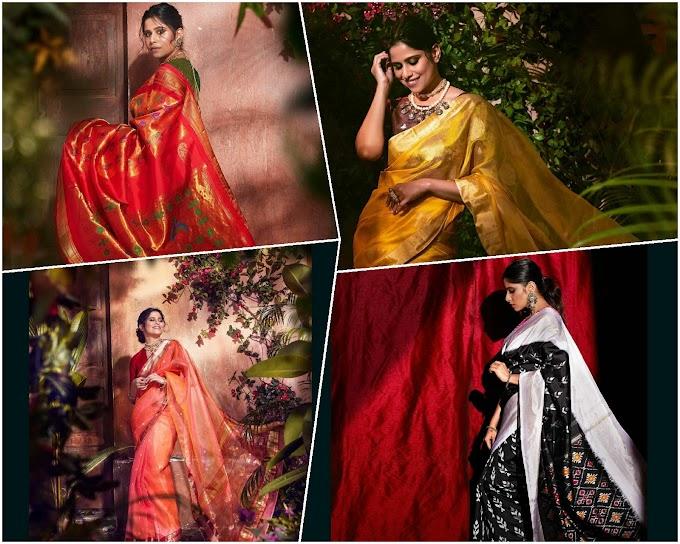 SaieTamhankar Ace The Sari Look In Her Own Label Thesareestory.in