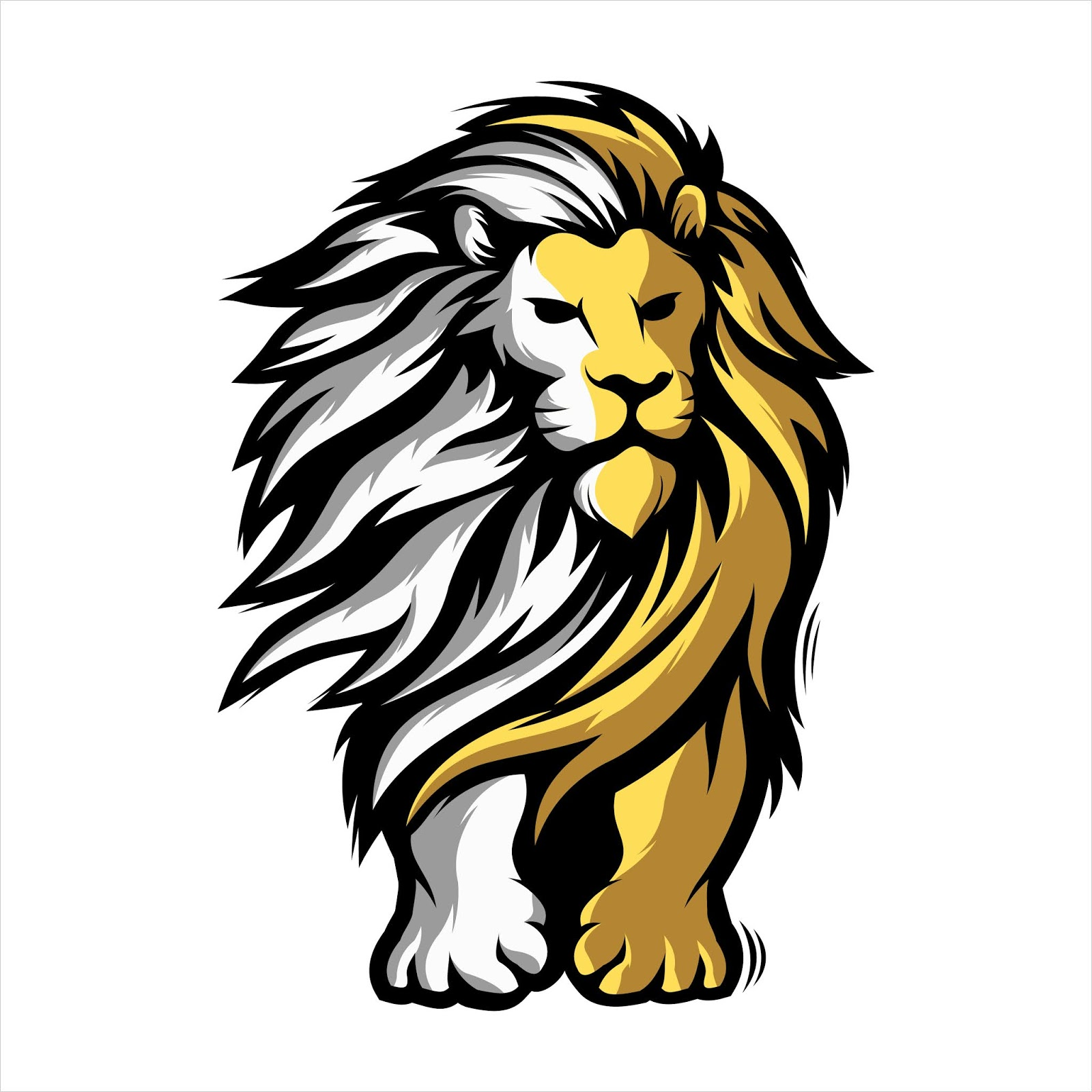Lion Mascot Free Download Vector CDR, AI, EPS and PNG Formats