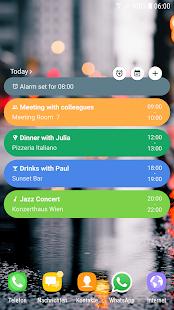 Today's Agenda Widget (Material Design) - náhled
