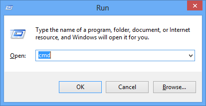 Microsoft windows run dialog box