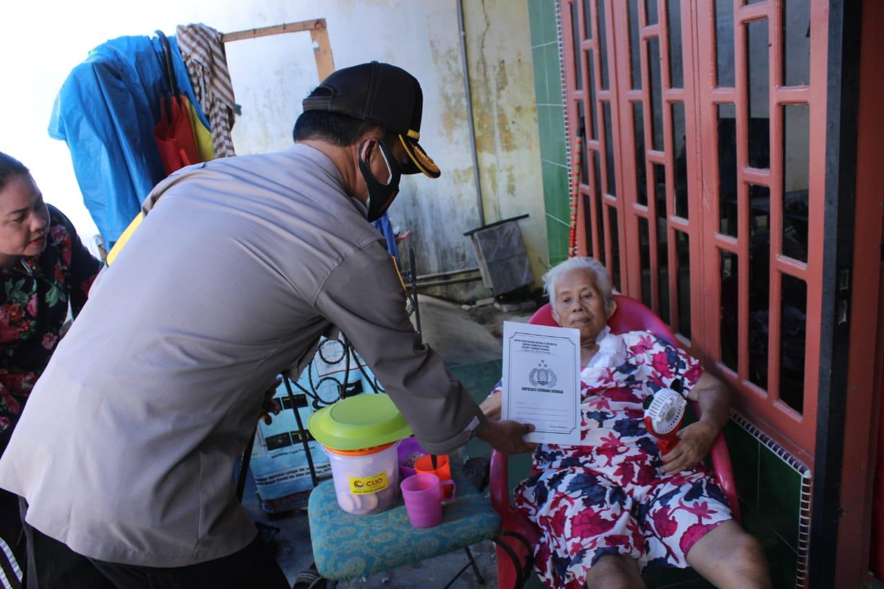Wujud Kepedulian, Kapolres Sergai Berikan bantuan Ibu Markinik Penderita sakit Ginjal