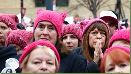 women in pussy hats