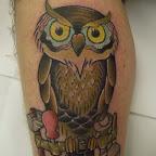 leg tools - Owl Tattoo