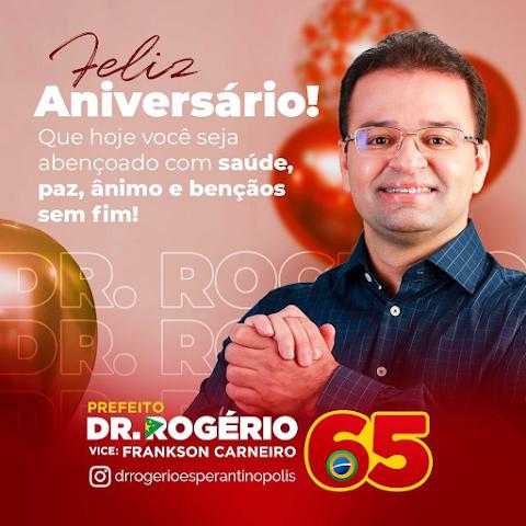 Blog rende homenagem ao candidato de oposição de Esperantinópolis, Rogério Almeida.
