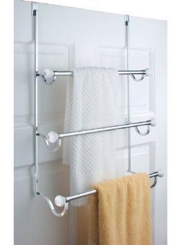 Chrome Over Door Towel Rack Holder Bathroom Shower New Best Shower Stalls