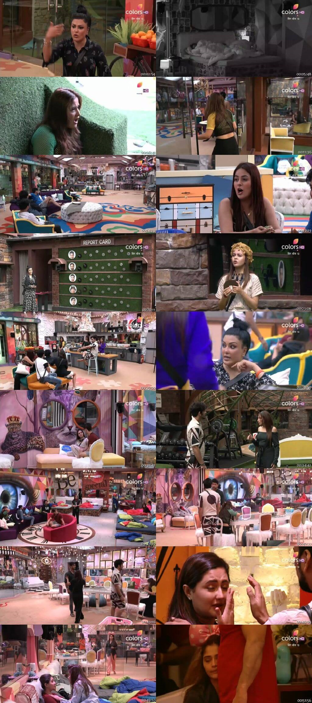 Screenshots Of Hindi Show Bigg Boss 13 October 2019 All Episodes 300MB 480P HD