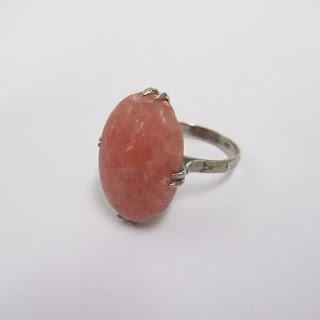 10K White Gold and Rose Quartz Ring