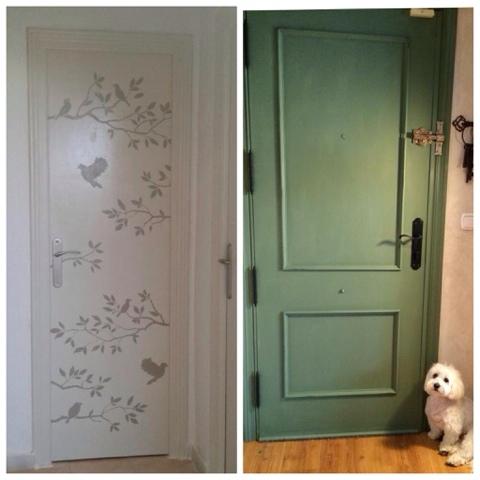 Ltimos trabajos con chalk paint la c moda encantada - De que color pinto las puertas de mi casa ...