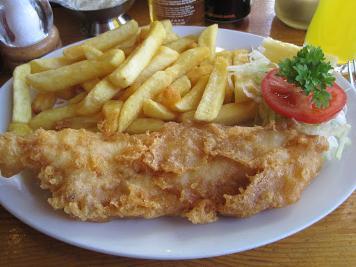 Try the fish and chips! From  Everything You Need to Know about Eating in London