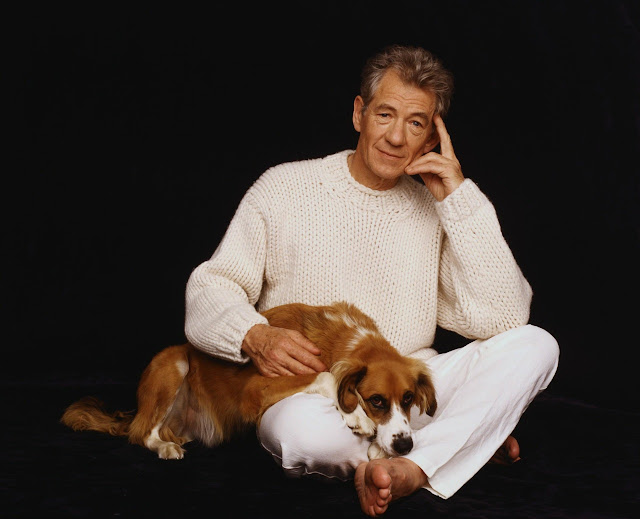 Ian McKellen and a dog