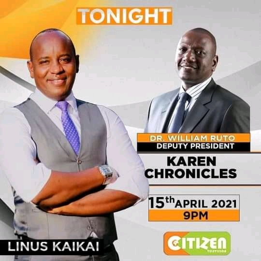 Deputy President William on Citizen Tv