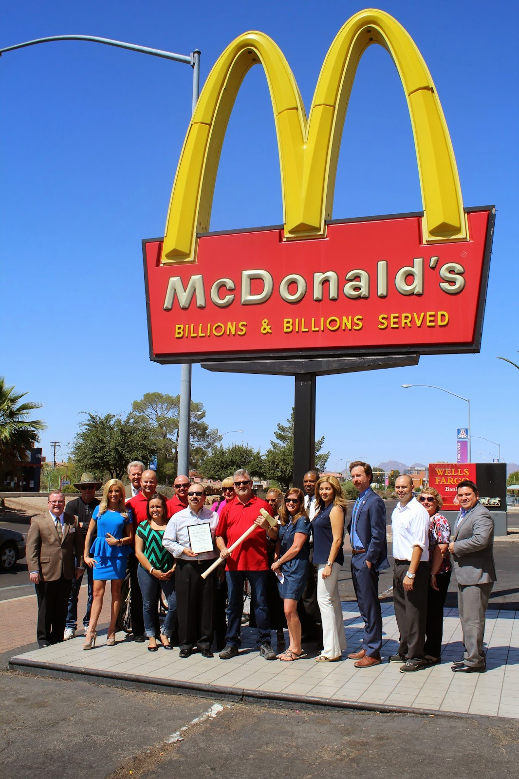 McDonalds - We say goodbye to the oldest remaining McDonald's in the Region making way for a great new McDonald's Restaurant with expanded wi-fi and power ports in the lobby for our U of A customers, double drive thru for increased capacity and speed of service and contemporary lobby décor and seating.   Restaurant location: 1711 E. Speedway Boulevard