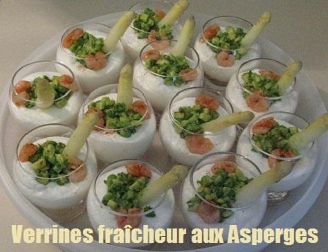 recette des verrines fraîcheur à la mousse d'asperge