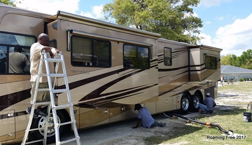Every inch of the RV was cleaned and polished