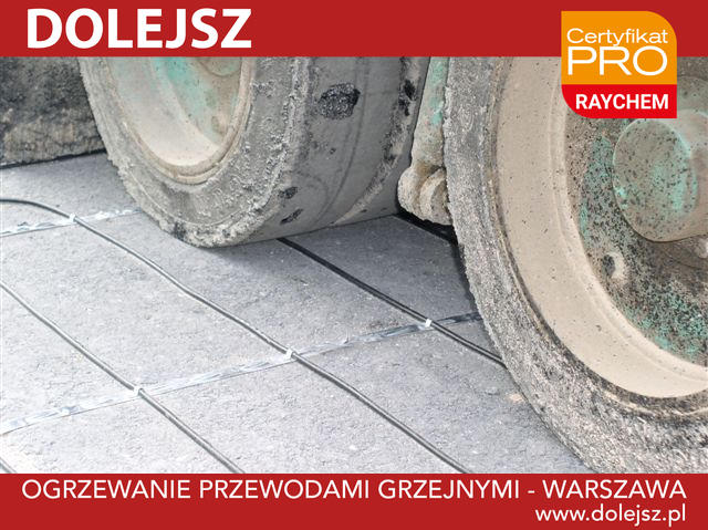 Przewody grzejne układane na podjazdach, rampach załadowczych i drogach dojazdowych pokrytych betonem asfaltowym