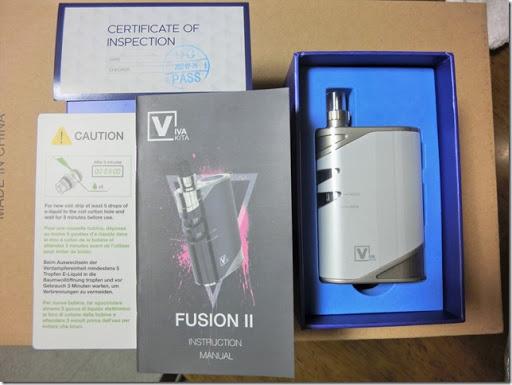 CIMG0383 thumb1 - 【MOD】Vaptio VivaKita「FUSION Ⅱ Starter KIt](フュージョンⅡ スターターキット)レビュー!おしゃれでスタイリッシュ、コンパクト!操作も簡単で、誰にでも使いやすいAIOタイプMOD。【MOD/電子タバコ/Starter Kit/AIO】