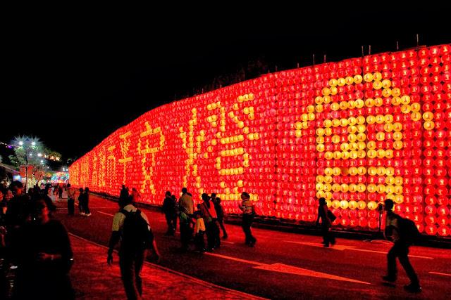 高雄 佛陀紀念館 燈會 煙火