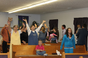 Rejoicing in His presence!