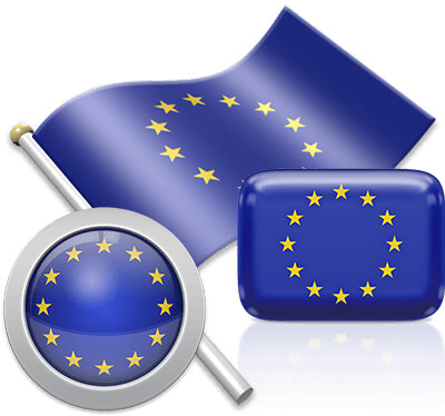 European flag icons pictures collection
