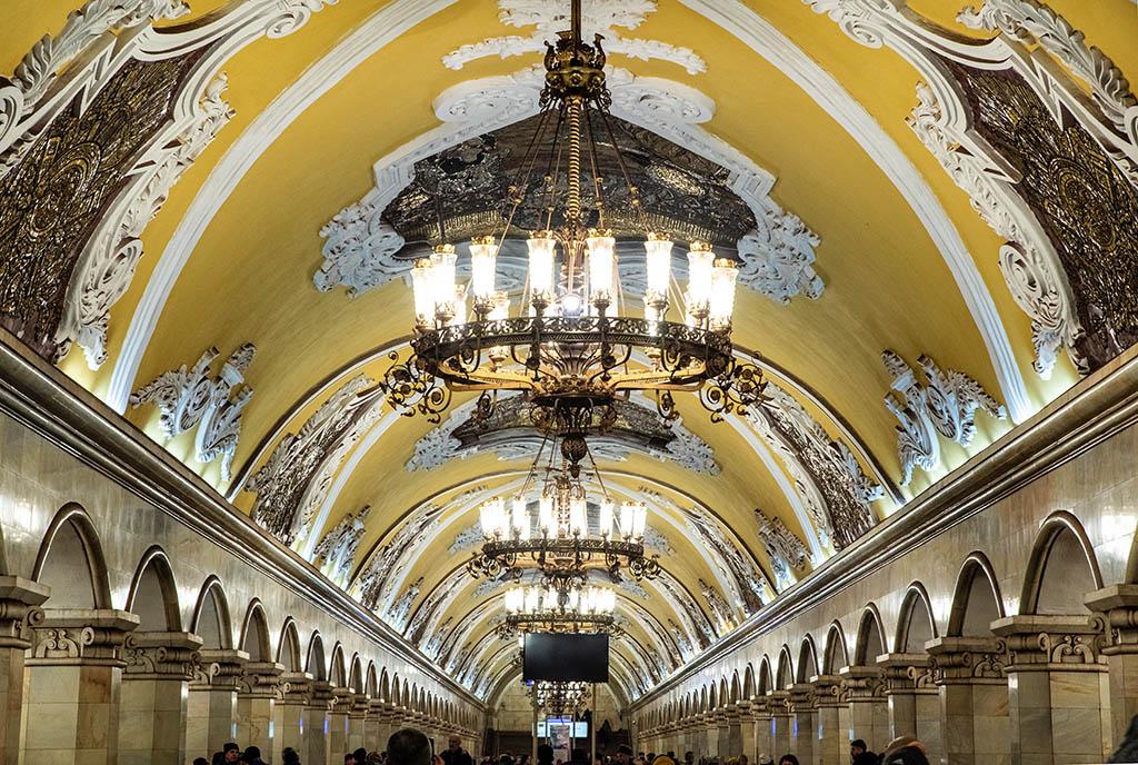 俄羅斯 莫斯科 地鐵站 Moscow metro Komsomolskaya 世界最美地鐵站
